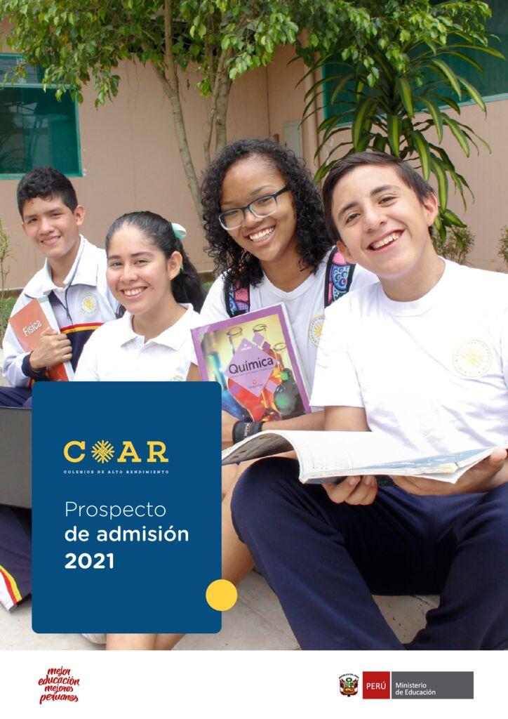 PROCESO ÚNICO DE ADMISIÓN 2021 COAR LA LIBERTAD