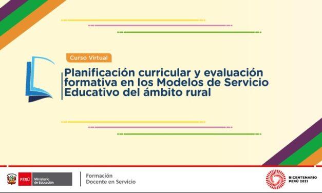 """Inscribirse al curso: """"Planificación curricular y evaluación formativa en los Modelos de Servicio Educativo del ámbito rural"""""""