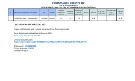 RESULTADOS FINALES – EBR SECUNDARIA – EDUCACIÓN FÍSICA