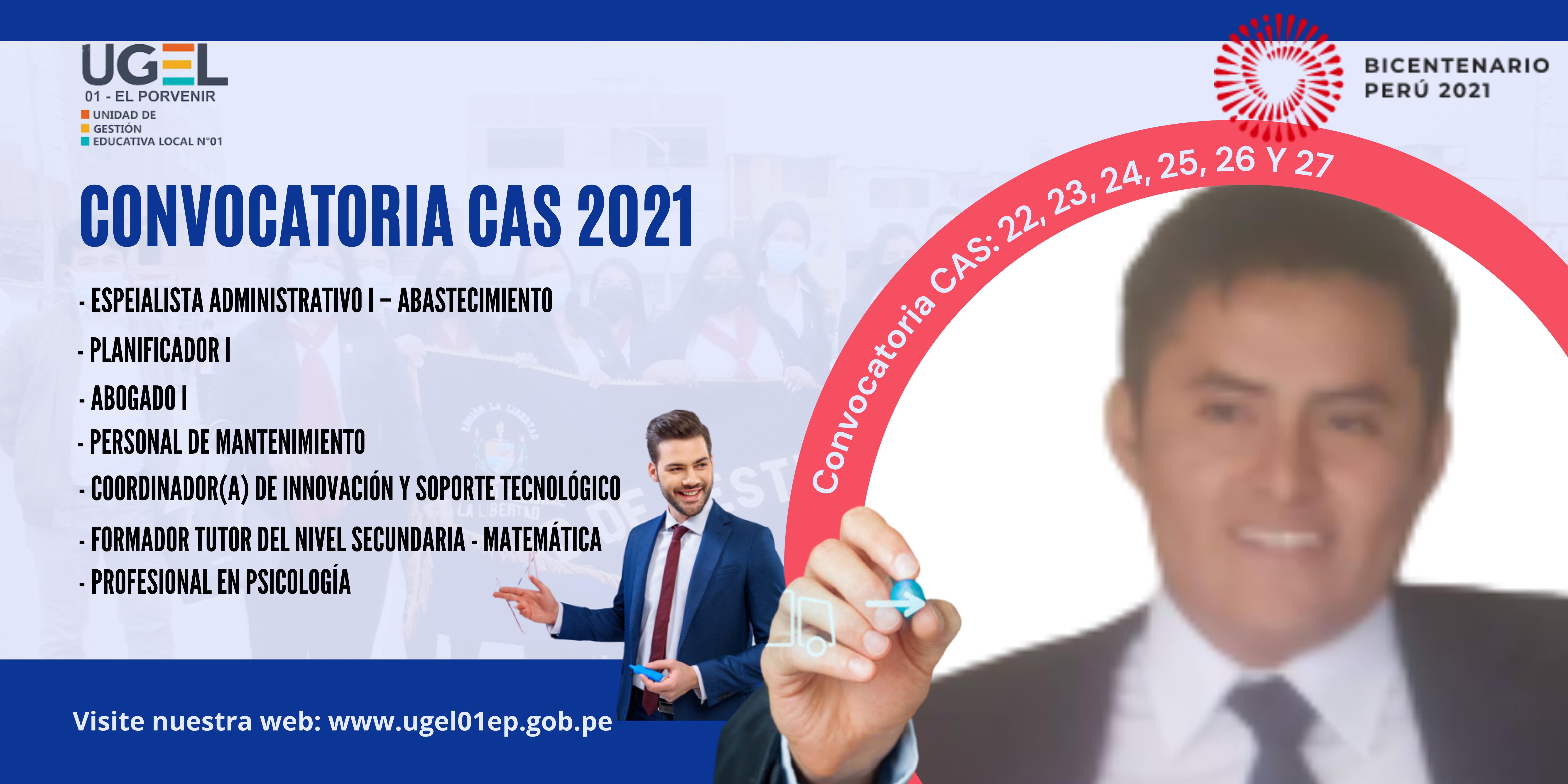 CONVOCATORIA CAS 2021