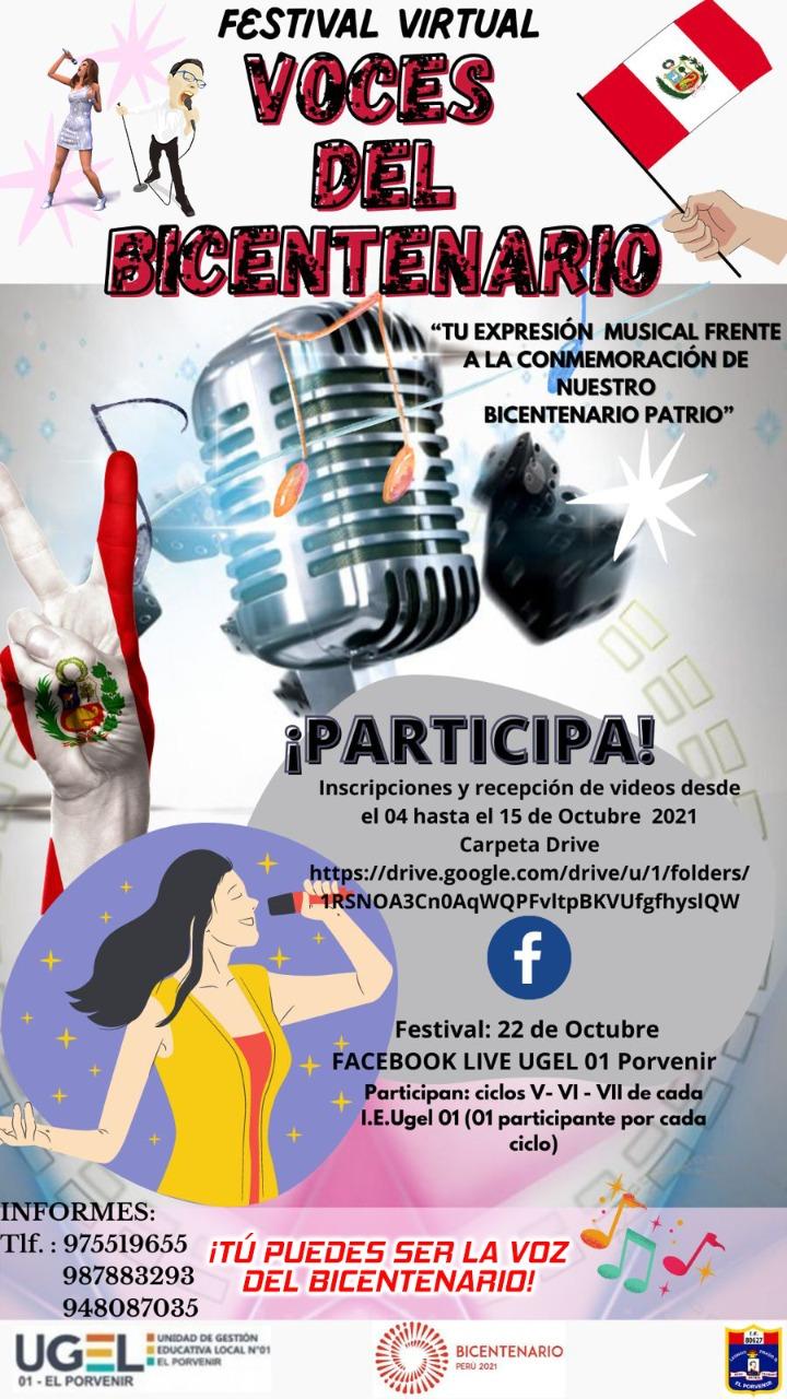 FESTIVAL VIRTUAL  VOCES DEL BICENTENARIO