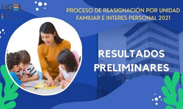RESULTADOS PRELIMINARES DE REASIGNACION POR INTERÉS PERSONAL Y UNIDAD FAMILIAR