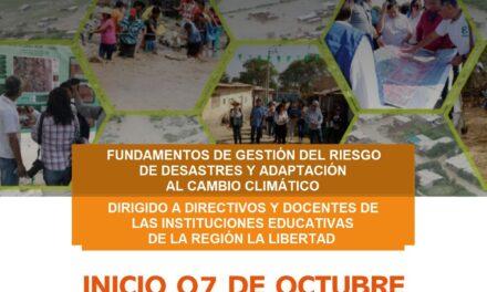 """INVITA A PARTICIPAR DE CURSO VIRTUAL: """"FORTALECIMIENTO DE CAPACIDADES  EN FUNDAMENTOS DE GESTIÓN DEL RIESGO DE DESASTRES Y ADAPTACIÓN AL  CAMBIO CLIMÁTICO"""", DIRIGIDO A II.EE. PÚBLICAS Y PRIVADAS POR EL PP 0068."""