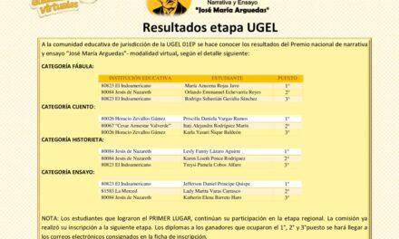 Resultados del Premio Nacional José María Arguedas